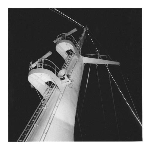Drama at Night; Mast Aboard Sun Line's Stella Solaris