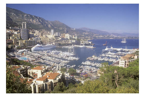 Monaco—Monte Carlo—Arial view of port